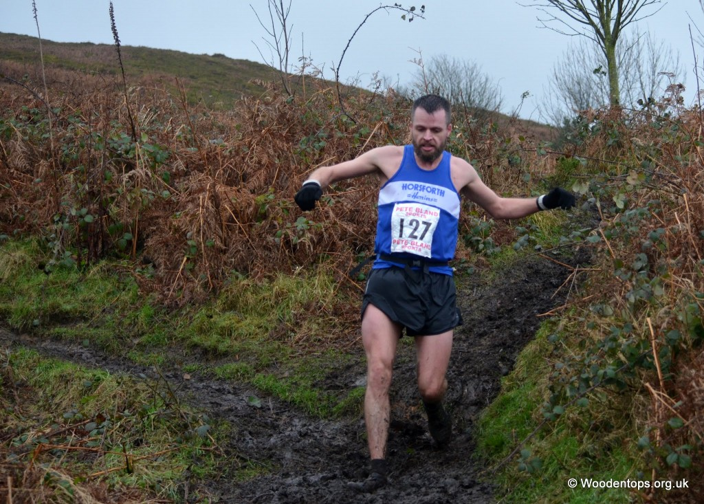 Rob Furness at Ilkley Moor Fell Race by Dave Woodhead
