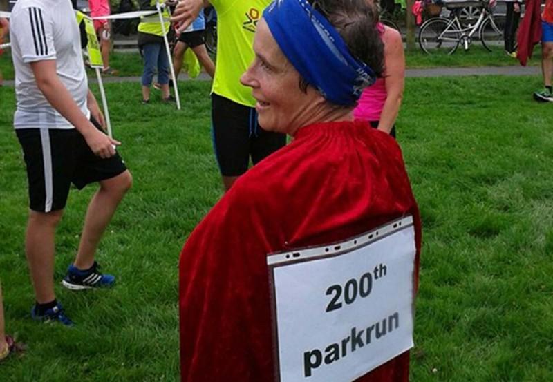 Cath Gray's 200th Parkrun