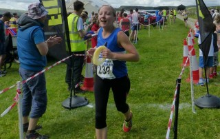 Kim Shaw at James Herriot Country Trail Race by Howard Binks