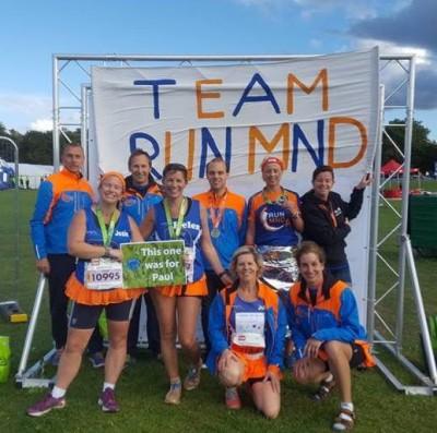Helen Barber & Team MNDA at Nottingham Marathon